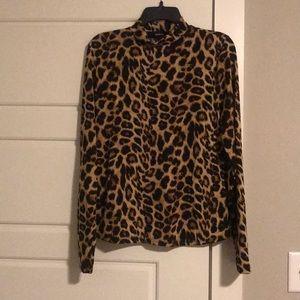 Cheetah Print Turtle Neck